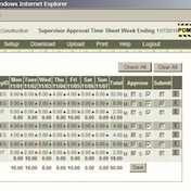 web timesheet report supervisor approval